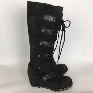 Sorel Joan Of Arctic Tall Wedge Heel Boots Sz 6